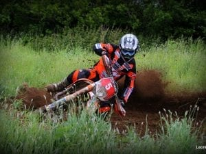 Enduro off road motorcycle Rider