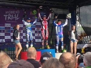Enduro event podium