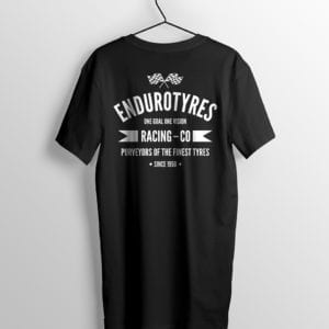 Endurotyres t-shirt back view